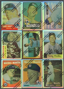 1996 Topps Finest Mickey Mantle Refractor Partial Set