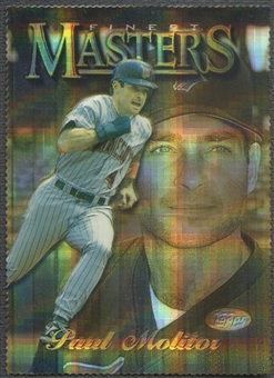 1997 Finest #173 Paul Molitor Embossed Die-Cut Refractor