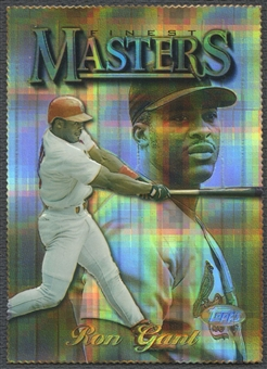 1997 Finest #333 Ron Gant Embossed Die-Cut Refractor