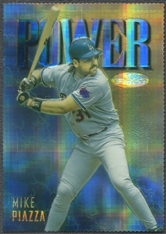 1997 Finest #151 Mike Piazza Embossed Die-Cut Refractor