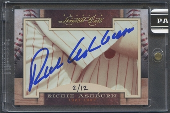 2011 Donruss Limited Cuts #270 Richie Ashburn Cut Auto #02/12
