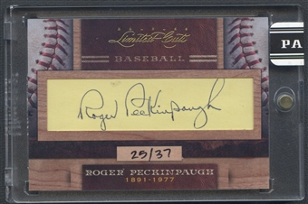 2011 Donruss Limited Cuts #280 Roger Peckinpaugh Cut Auto #25/37