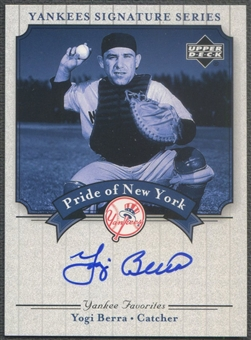 2003 Upper Deck Yankees Signature #YB Yogi Berra Pride of New York Auto