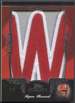 "2007 Topps Sterling Ryan Howard Letter ""W"" Patch #1/1"