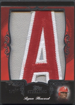 "2007 Topps Sterling Ryan Howard Letter ""A"" Patch #1/1"