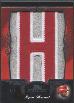 "2007 Topps Sterling Ryan Howard Letter ""H"" Patch #1/1"