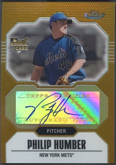 2007 Finest #153 Philip Humber Gold Refractors Rookie Auto #21/49