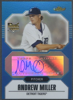 2007 Finest #151 Andrew Miller Blue Refractor Rookie Auto #152/299