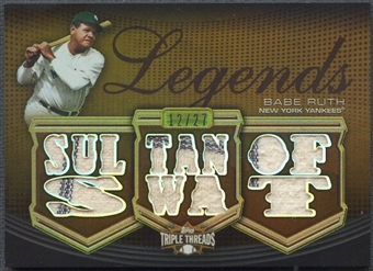 2010 Topps Triple Threads #RL25 Babe Ruth Legend Relics Sepia Jersey #12/27