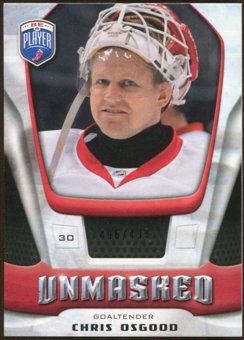 2009/10 Upper Deck Be A Player Goalies Unmasked #GU24 Chris Osgood /499