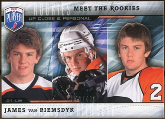 2009/10 Upper Deck Be A Player Meet The Rookies #MR4 James van Riemsdyk /499