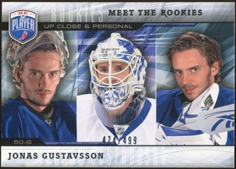 2009/10 Upper Deck Be A Player Meet The Rookies #MR6 Jonas Gustavsson /499