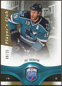 2009/10 Upper Deck Be A Player Player's Club #2 Joe Thornton 8/25