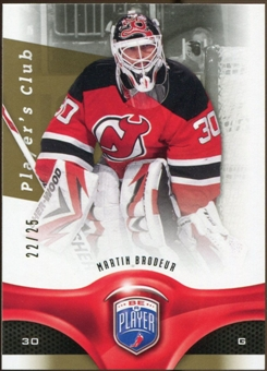 2009/10 Upper Deck Be A Player Player's Club #26 Martin Brodeur 22/25
