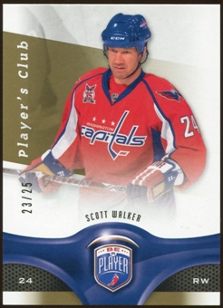 2009/10 Upper Deck Be A Player Player's Club #42 Scott Walker 23/25