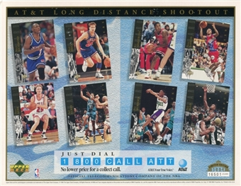1994 Upper Deck AT&T Long Distance Shootout Basketball Commemorative Sheet Lot of 10