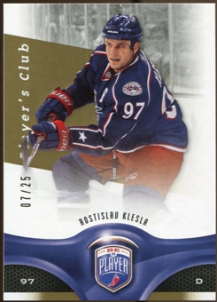 2009/10 Upper Deck Be A Player Player's Club #47 Rostislav Klesla 7/25