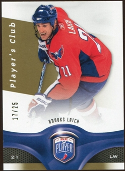 2009/10 Upper Deck Be A Player Player's Club #54 Brooks Laich 17/25