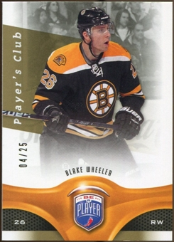 2009/10 Upper Deck Be A Player Player's Club #56 Blake Wheeler /25