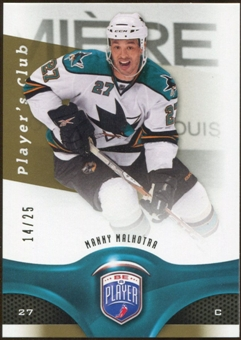 2009/10 Upper Deck Be A Player Player's Club #58 Manny Malhotra /25