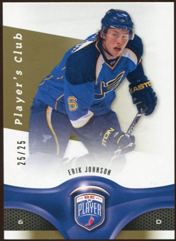 2009/10 Upper Deck Be A Player Player's Club #88 Erik Johnson /25