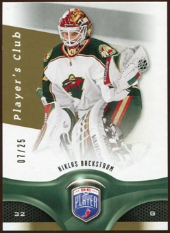 2009/10 Upper Deck Be A Player Player's Club #91 Niklas Backstrom /25