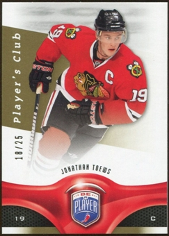 2009/10 Upper Deck Be A Player Player's Club #101 Jonathan Toews /25
