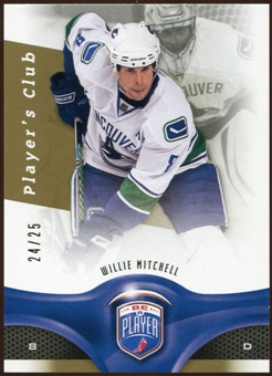 2009/10 Upper Deck Be A Player Player's Club #112 Willie Mitchell /25