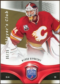 2009/10 Upper Deck Be A Player Player's Club #126 Miikka Kiprusoff /25