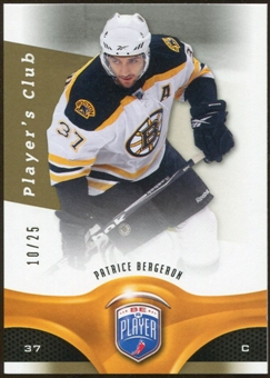 2009/10 Upper Deck Be A Player Player's Club #128 Patrice Bergeron /25