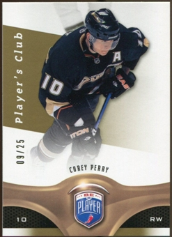 2009/10 Upper Deck Be A Player Player's Club #132 Corey Perry /25