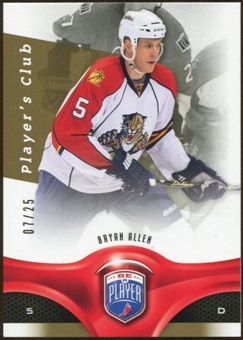 2009/10 Upper Deck Be A Player Player's Club #140 Bryan Allen /25