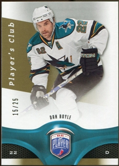 2009/10 Upper Deck Be A Player Player's Club #147 Dan Boyle 15/25