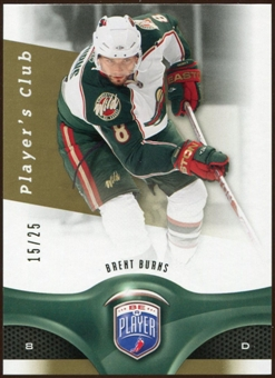 2009/10 Upper Deck Be A Player Player's Club #157 Brent Burns 15/25