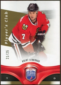 2009/10 Upper Deck Be A Player Player's Club #193 Brent Seabrook 21/25