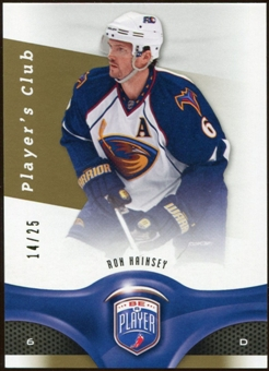 2009/10 Upper Deck Be A Player Player's Club #194 Ron Hainsey 14/25