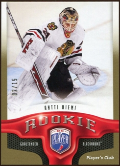 2009/10 Upper Deck Be A Player Player's Club #218 Antti Niemi 2/15