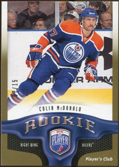 2009/10 Upper Deck Be A Player Player's Club #239 Colin McDonald 7/15
