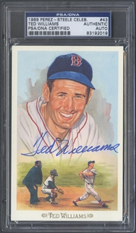 1989 Perez Steele #43 Ted Williams Auto PSA DNA