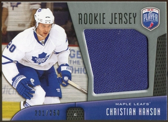 2009/10 Upper Deck Be A Player Rookie Jerseys #RJCH Christian Hanson /250