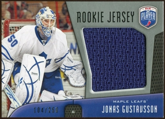 2009/10 Upper Deck Be A Player Rookie Jerseys #RJJG Jonas Gustavsson /250