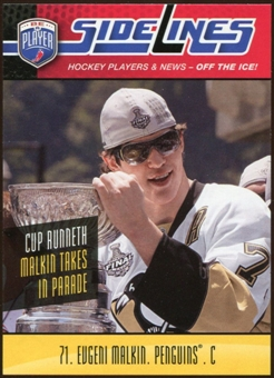 2009/10 Upper Deck Be A Player Sidelines #S13 Evgeni Malkin