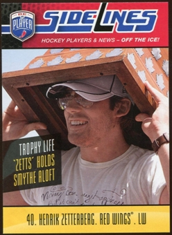 2009/10 Upper Deck Be A Player Sidelines #S16 Henrik Zetterberg