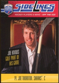 2009/10 Upper Deck Be A Player Sidelines #S23 Joe Thornton