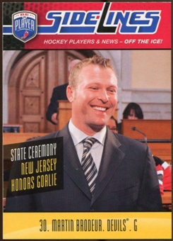 2009/10 Upper Deck Be A Player Sidelines #S28 Martin Brodeur