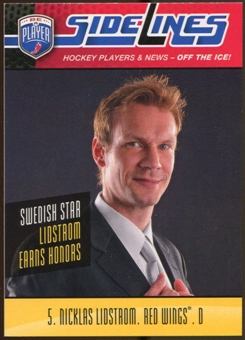 2009/10 Upper Deck Be A Player Sidelines #S38 Nicklas Lidstrom