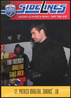2009/10 Upper Deck Be A Player Sidelines #S40 Patrick Marleau