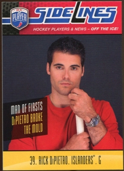2009/10 Upper Deck Be A Player Sidelines #S45 Rick DiPietro