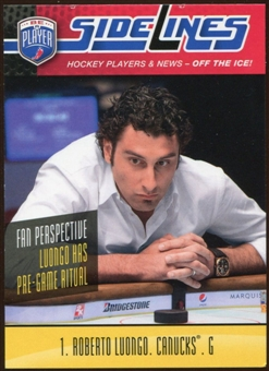 2009/10 Upper Deck Be A Player Sidelines #S47 Roberto Luongo