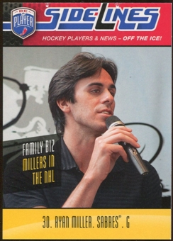 2009/10 Upper Deck Be A Player Sidelines #S49 Ryan Miller